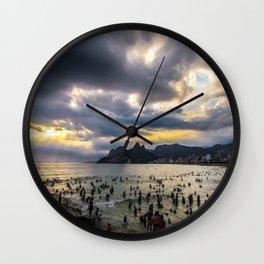 Praia de Ipanema Wall Clock