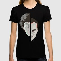 Old Fashioned Villain SMALL Black Womens Fitted Tee