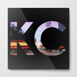Kansas City KC Western Auto Night Metal Print