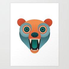 Geometric Bear Art Print