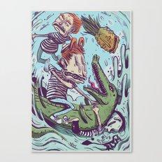 Croc Hunters Canvas Print