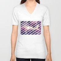 takmaj V-neck T-shirts featuring watercolor galaxy by takmaj