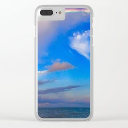 Painted Paradise Clear iPhone Case