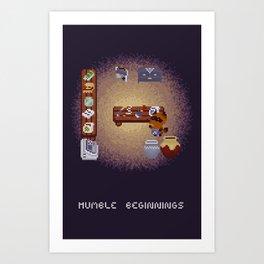 Humble Beginnings // Animal Crossing Fan Art Art Print