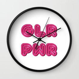 Glw Pwr Wall Clock