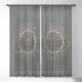Lunar Calendar 2021 Sheer Curtain
