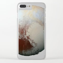 Pluto's heart Clear iPhone Case