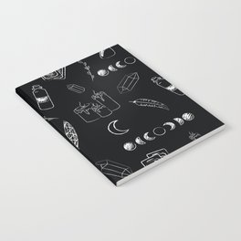 Witchy Stuff Black Notebook