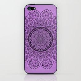 Mandala on Light Purple iPhone Skin