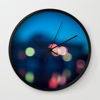 bokeh Wall Clocks featuring Bokeh by Ashley Hirst Photography