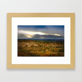Overlook From Bradbury Mountain Framed Art Print