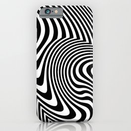 Optical Illusion Op Art Black And White iPhone Case