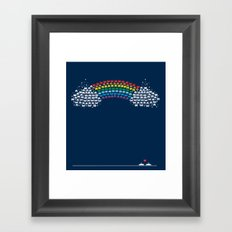 Rainbow Invaders Framed Art Print