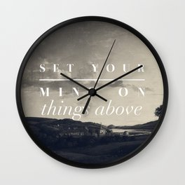 Set Your Mind On Things Above - Colossians 3:2 Wall Clock