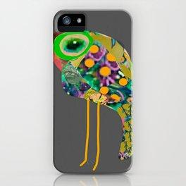 little green eyed boho bird iPhone Case