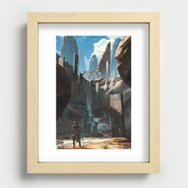 Tablet Falls Recessed Framed Print