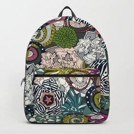 succulents multi dark Backpack