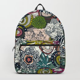 succulents multi dark Backpack