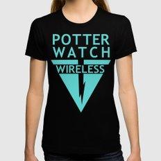 Potterwatch Wireless MEDIUM Black Womens Fitted Tee