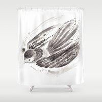 flight Shower Curtains featuring Flight by Lilian Darmono