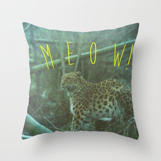 MEOW! Throw Pillow