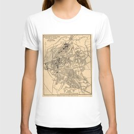 Vintage Battle of Bull Run Map (1886) T-shirt