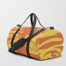 Gold on Burnt Orange Duffle Bag