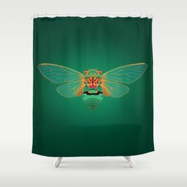 Green Grocer Cicada Shower Curtain