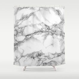 Marble - Gray Shower Curtain