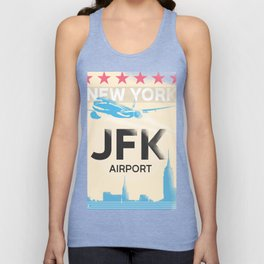 JFK stylish airport code Unisex Tank Top