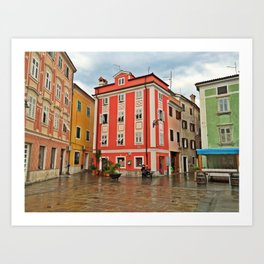 Apartments in Parin, Slovenia Art Print