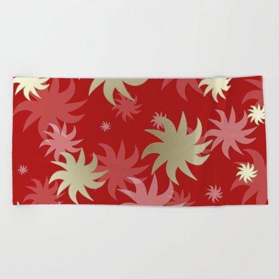 CHRISTMAS STARS 04 Beach Towel