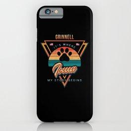 Grinnell Iowa iPhone Case