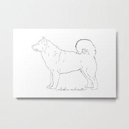 Alaskan Malamute sketch Metal Print