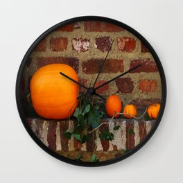 Gourds On A Windowsill Wall Clock