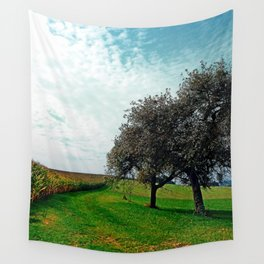 Cornfields, trees and lots of clouds | landscape photography Wall Tapestry