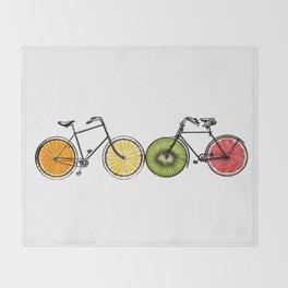 Fruity bikes Throw Blanket