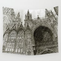 takmaj Wall Tapestries featuring Rouen facade by takmaj