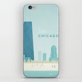 Vintage Chicago Travel Poster iPhone Skin