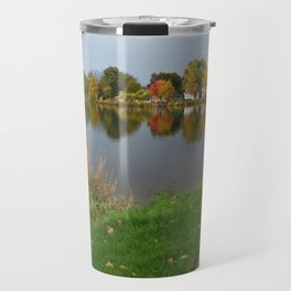 Autumn Pine River Alma Michigan Travel Mug