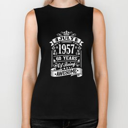 luly 1957 60 years of being awesome t-shirts Biker Tank
