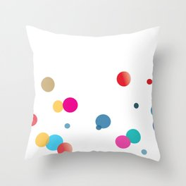 Beauty and the bubbles Throw Pillow