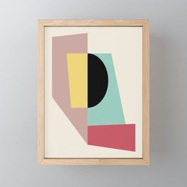 Geometric Shapes Abstract Framed Mini Art Print
