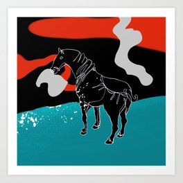 I am not your white horse Art Print