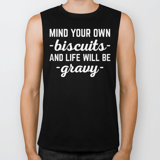 Life Will Be Gravy Funny Quote Biker Tank
