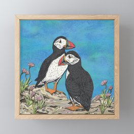 Puffin Perfection Framed Mini Art Print