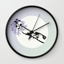 Paulownia Trees Produce Seeds Wall Clock