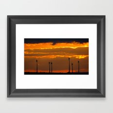 MM - Wind turbines in the sunset Framed Art Print