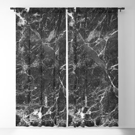 Black and White Marble Granite Blackout Curtain