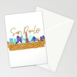 Cute San Paulo skyline design Stationery Cards